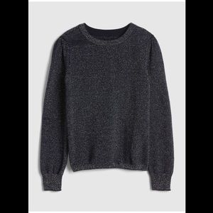 New GAP KIDS Navy Metallic Sparkle Sweater xxl